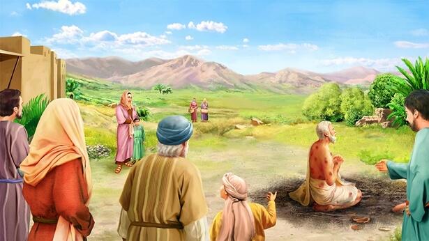 Iov binecuvântează numele lui Dumnezeu și nu se gândește la binecuvântări sau dezastre