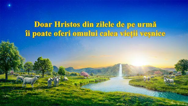 Doar Hristos din zilele de pe urmă îi poate oferi omului calea vieții veșnice